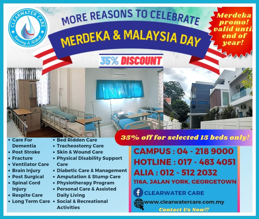 Merdeka Promo!  35% Discount! From August Until End of Year!